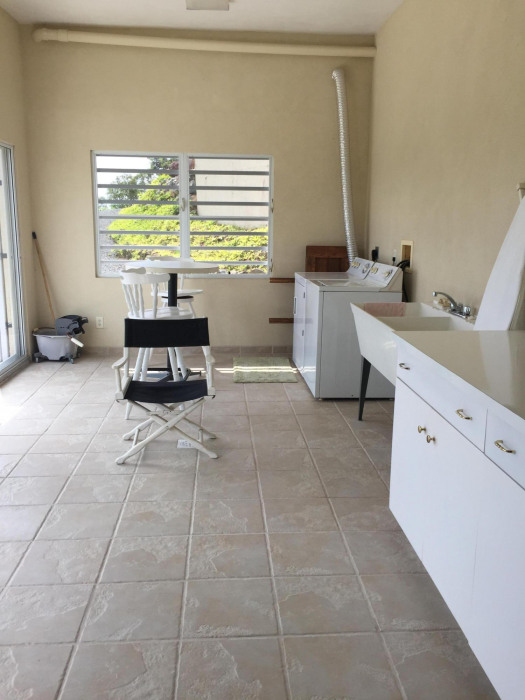 Lower laundry room is quite spacious