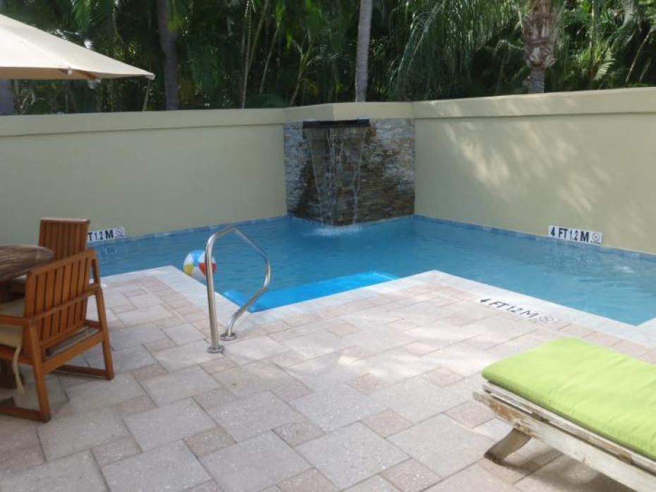 Sample villa pool