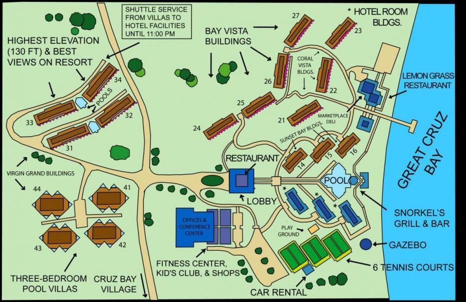 Map of the Westin Resort