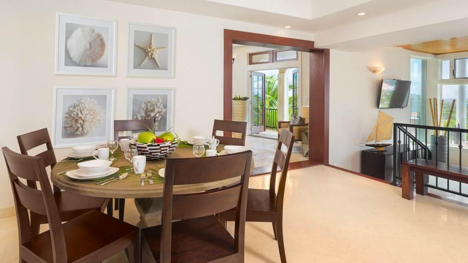 Inviting dining area