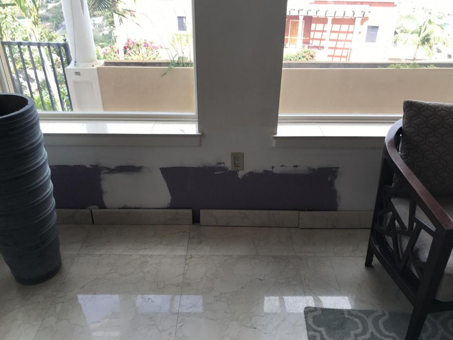 Drywall Repair Below Windows