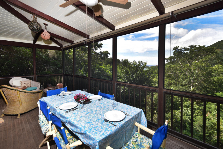 screened dining porch
