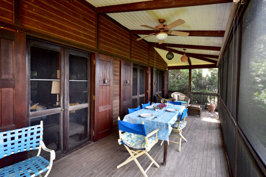 upper covered & screened porch