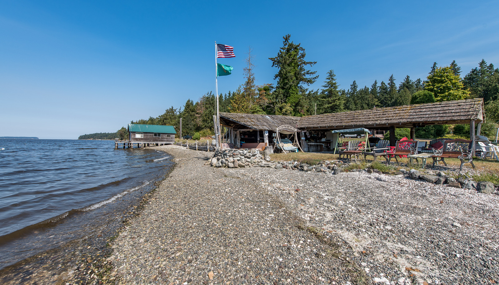No-Bank Waterfront on Sequim Bay.