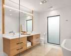 Master bath sanctuary with heated floors and custom everything.