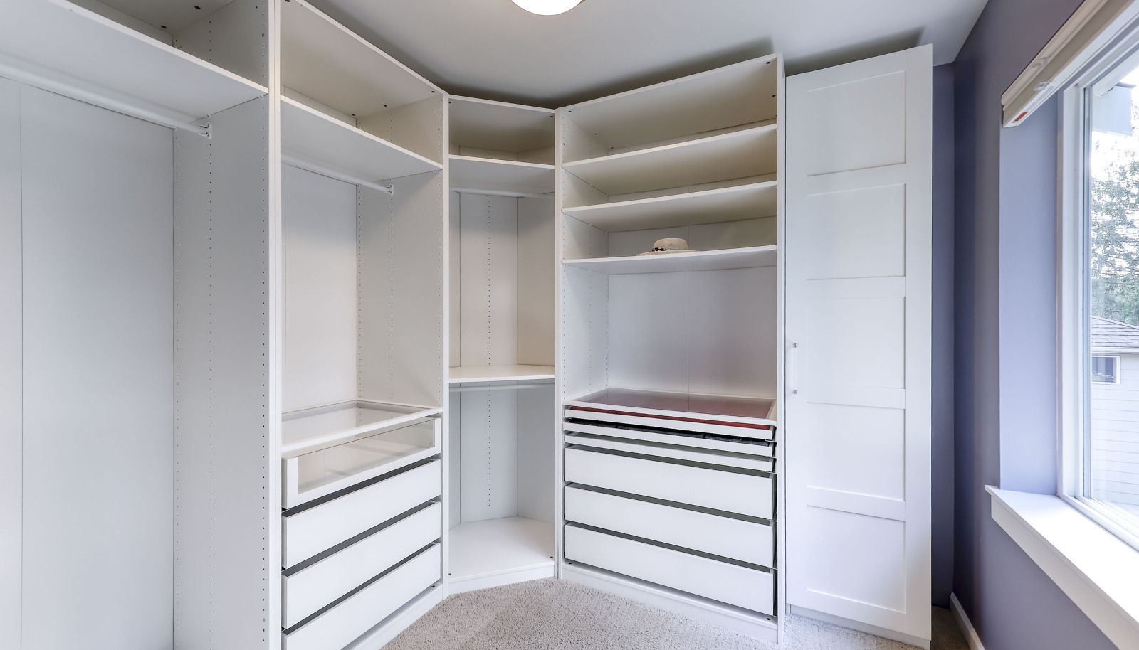 The primary master closet - there is also a 2nd master suite closet off the master bath!