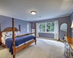 Beautiful and large master bedroom.