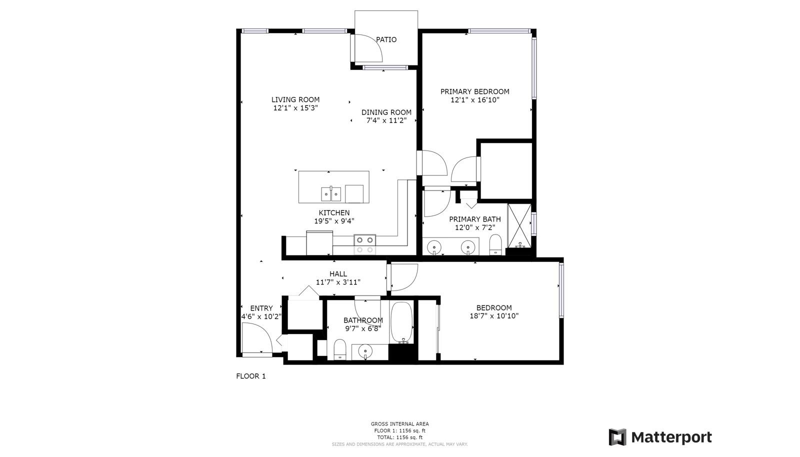D238  2 bedrooms, first-floor unit